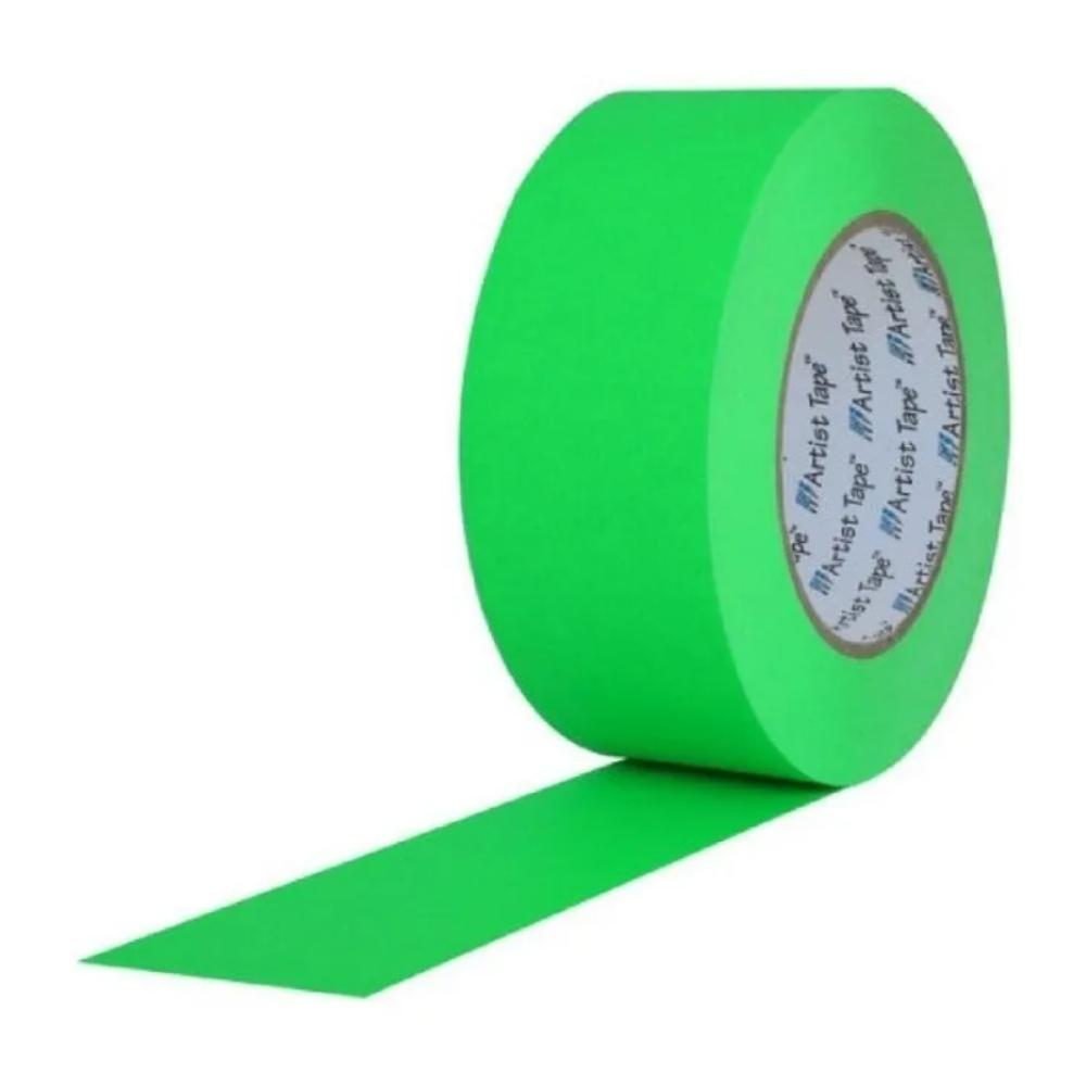 Fita de Papel para Console Artist Tape Pro Tapes 48mm X 50m Verde Fluor  - Casa do Roadie