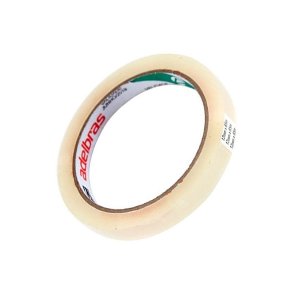 Fita de Plástico para Embalagens Adelbras 12mm X 50m Transparente
