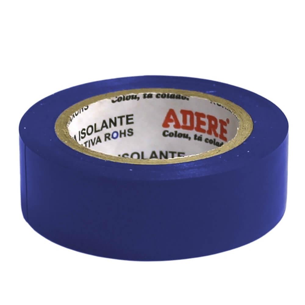 Fita de PVC Isolante Adere 19mm X 10m Azul  - Casa do Roadie