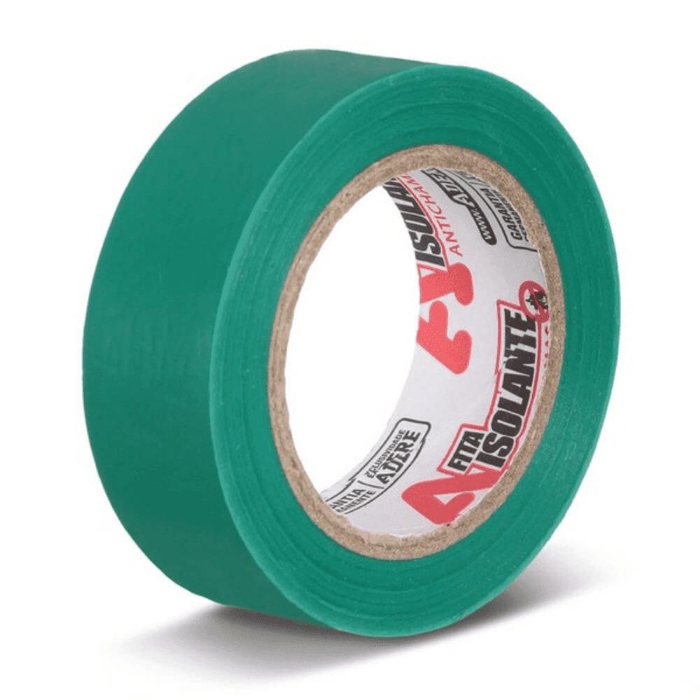 Fita de PVC Isolante Adere 19mm X 10m Verde  - Casa do Roadie