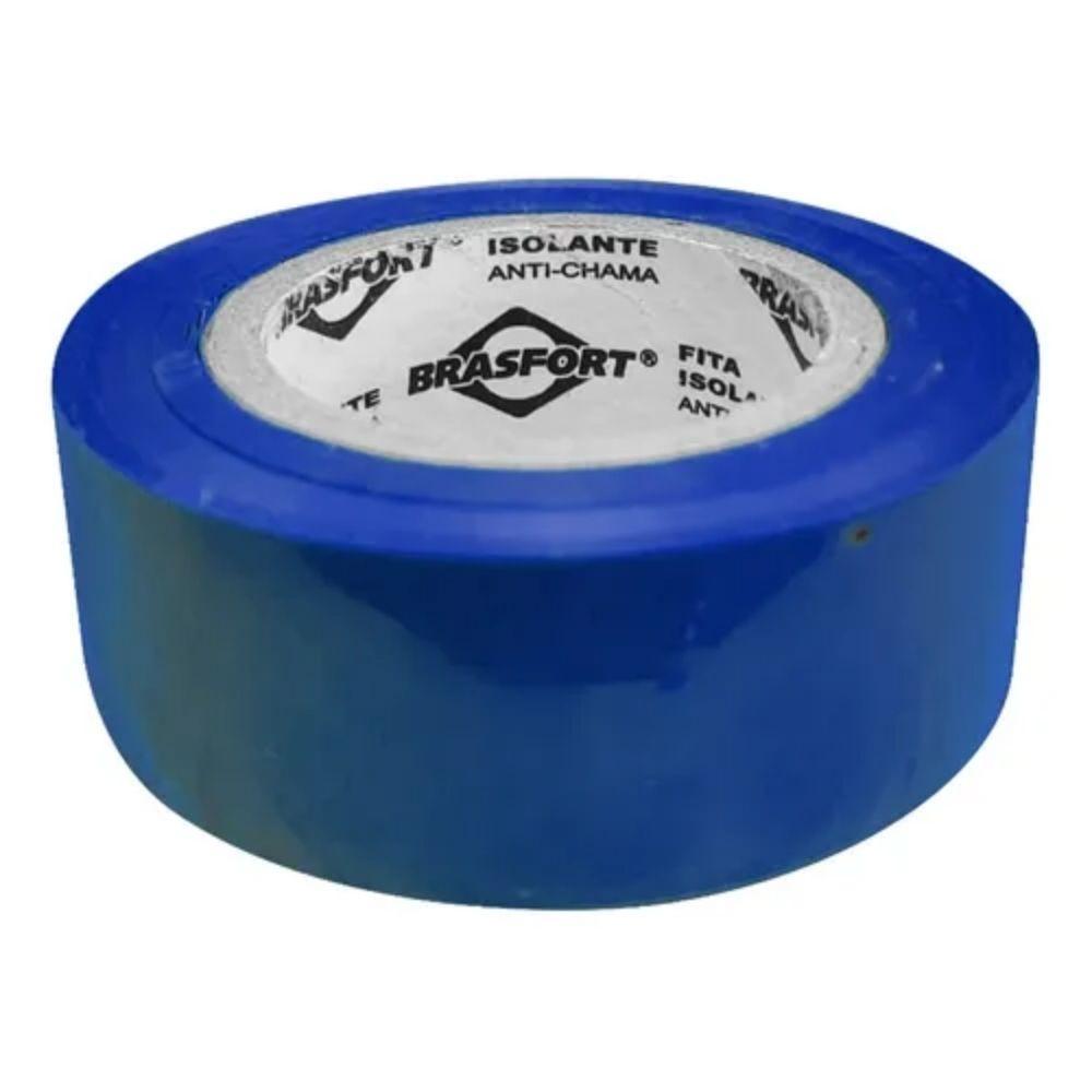 Fita de PVC Isolante Brasfort 19mm X 10m Azul