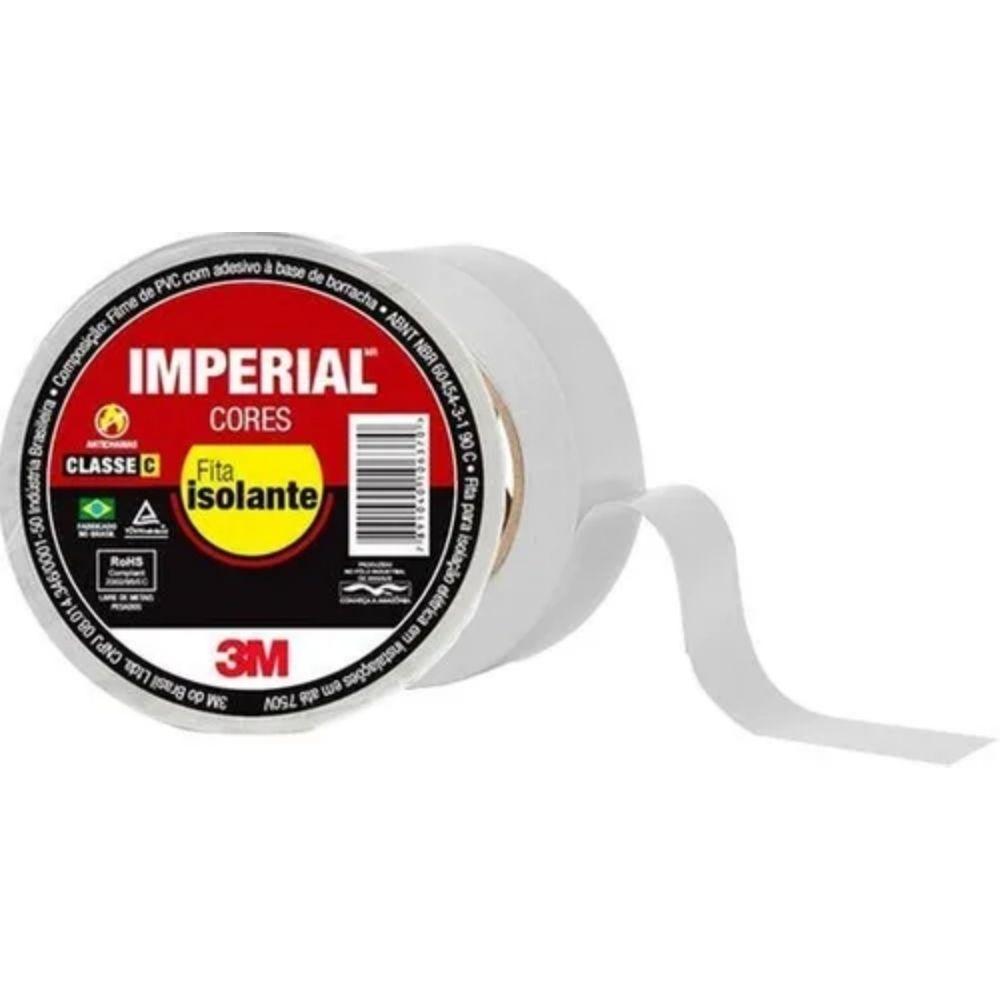 Fita de PVC Isolante Imperial 3M 18mm X 10m Branca