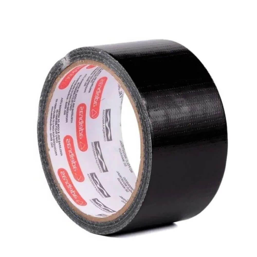 Fita de PVC Silver Tape Multiuso Adelbras 48mm X 10m Preta
