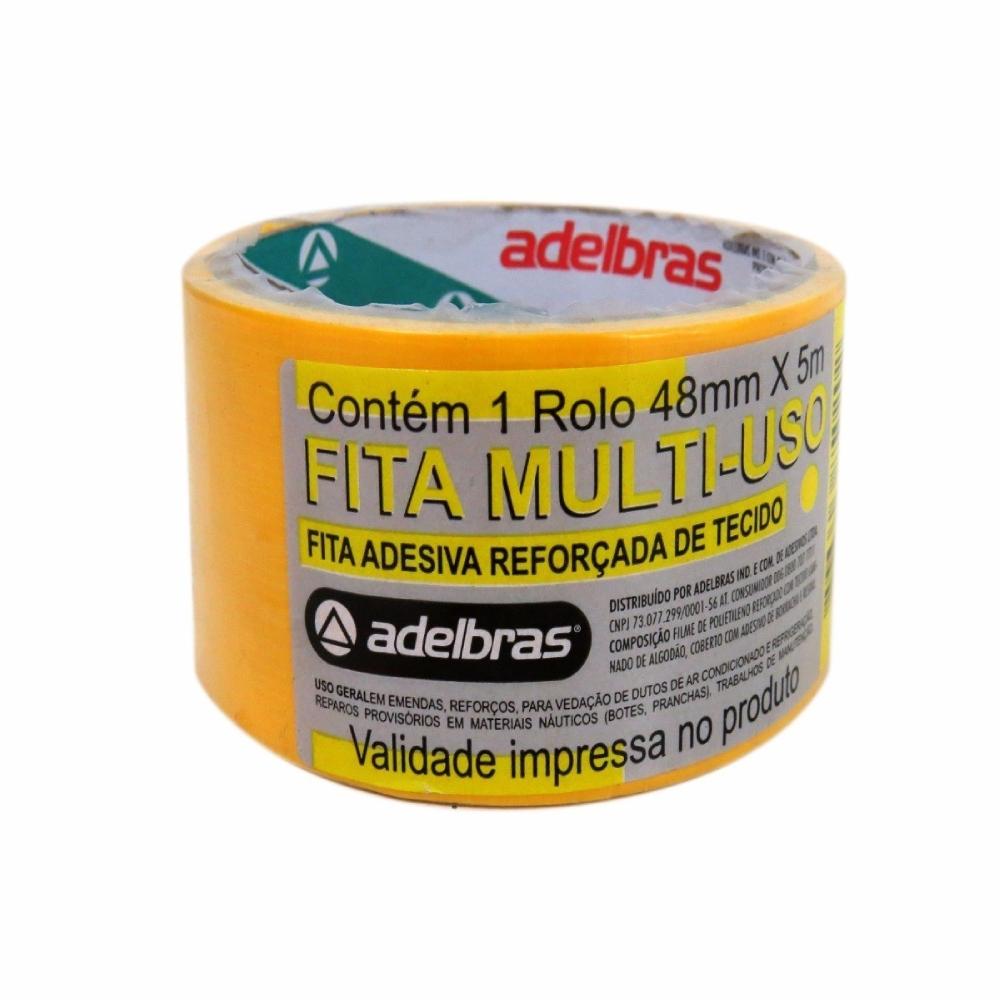 Fita de PVC Silver Tape Multiuso Adelbras 48mm X 5m Amarela