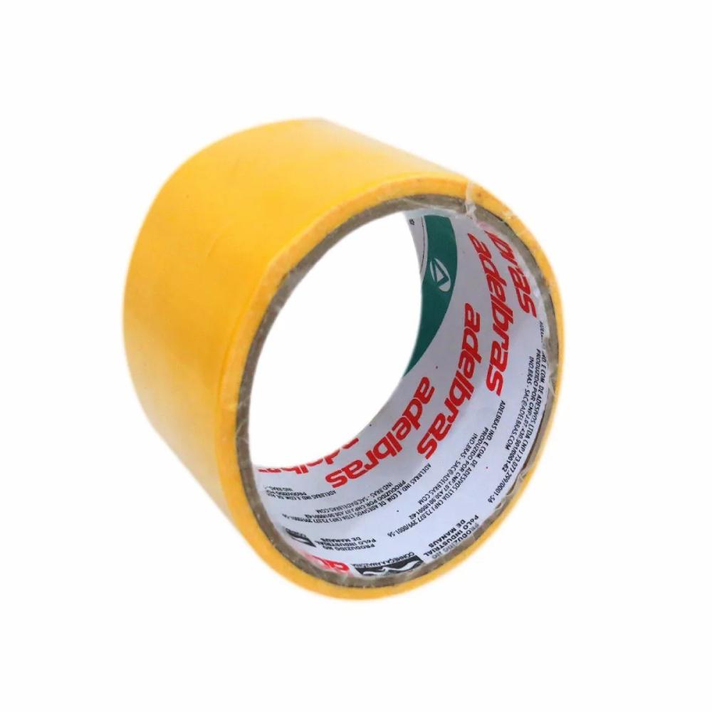 Fita de PVC Silver Tape Multiuso Adelbras 48mm X 5m Amarela  - Casa do Roadie