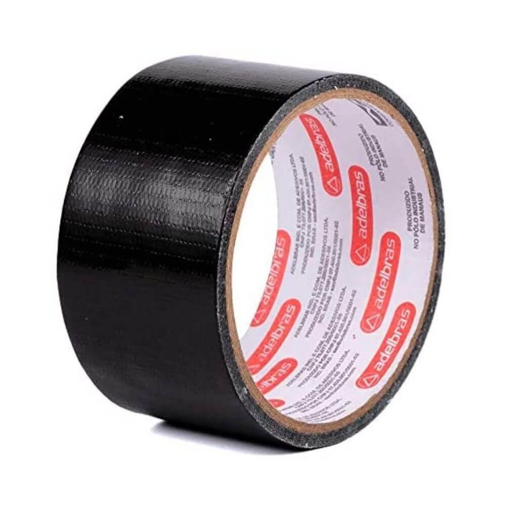 Fita de PVC Silver Tape Multiuso Adelbras 48mm X 5m Preta  - Casa do Roadie