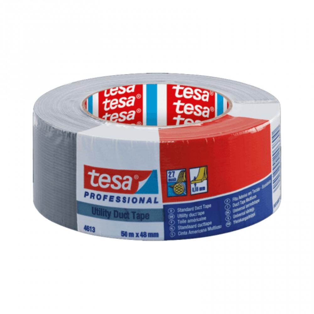 Fita de PVC Silver Tape Multiuso Tesa 48mm X 50m Prata