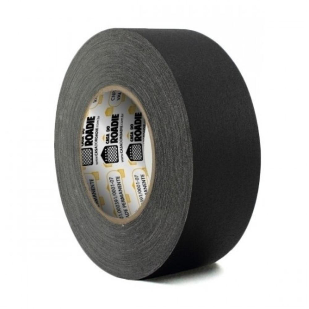 Fita de Tecido Gaffer Tape Casa do Roadie 48mm X 50m Preta  - Casa do Roadie