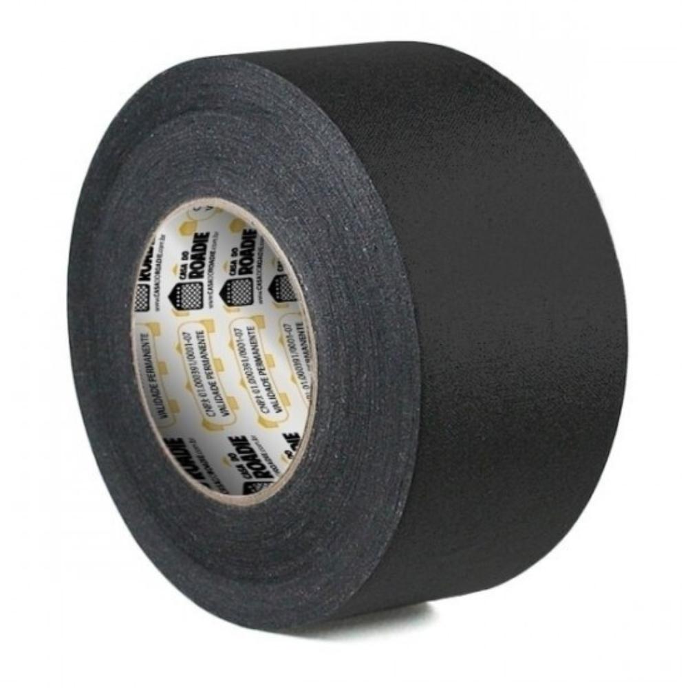 Fita de Tecido Gaffer Tape Casa do Roadie 69mm X 25m Preta