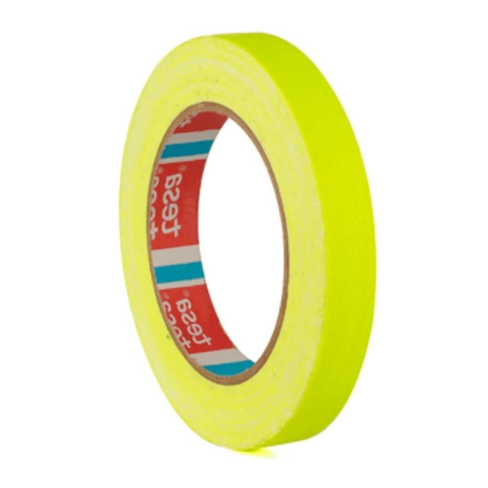 Fita de Tecido Gaffer Tape Tesa 18mm X 25m Amarela Fluorescente  - Casa do Roadie