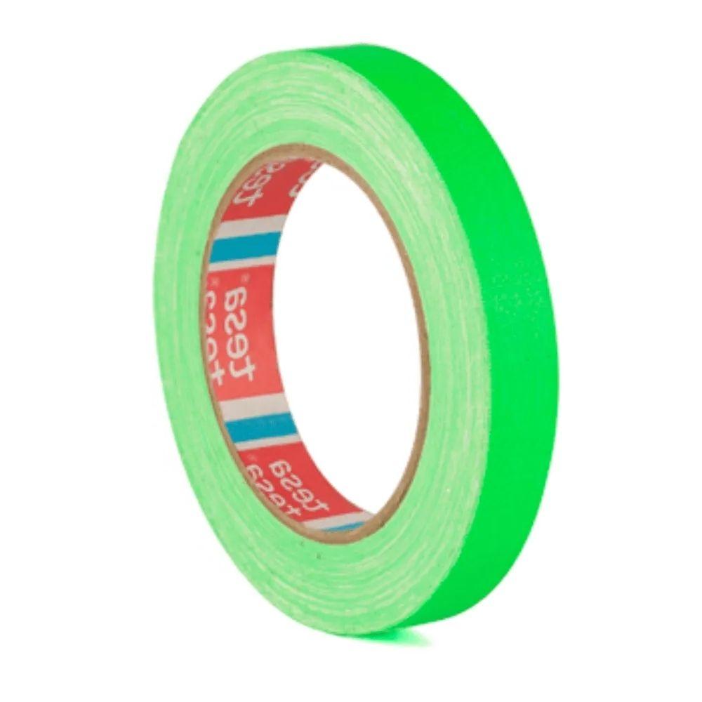 Fita de Tecido Gaffer Tape Tesa 18mm X 25m Verde Fluorescente