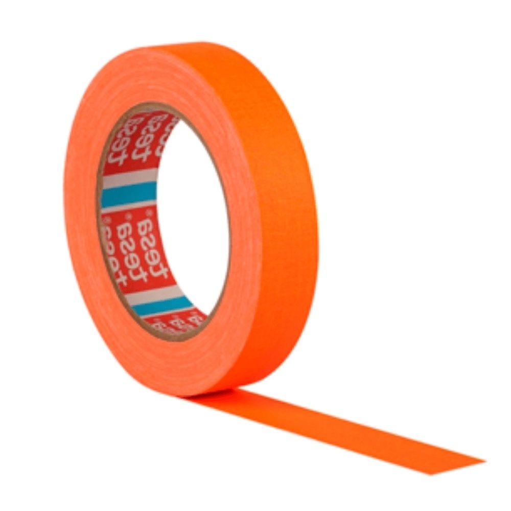Fita de Tecido Gaffer Tape Tesa 24mm X 25m Laranja Fluorescente