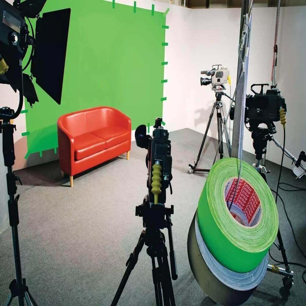 Fita de Tecido Gaffer Tape Tesa 48mm X 25m Verde Fluorescente  - Casa do Roadie