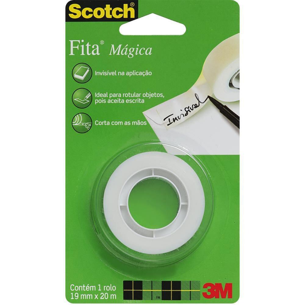 Fita Mágica Invisível Scotch 3M 19mm X 20m Transparente