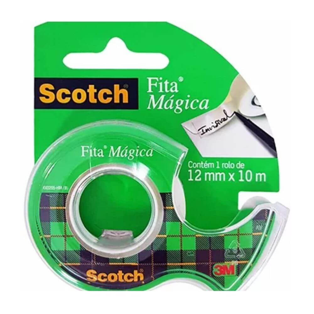 Fita Mágica Transparente Scotch 3M 12mm X 10m