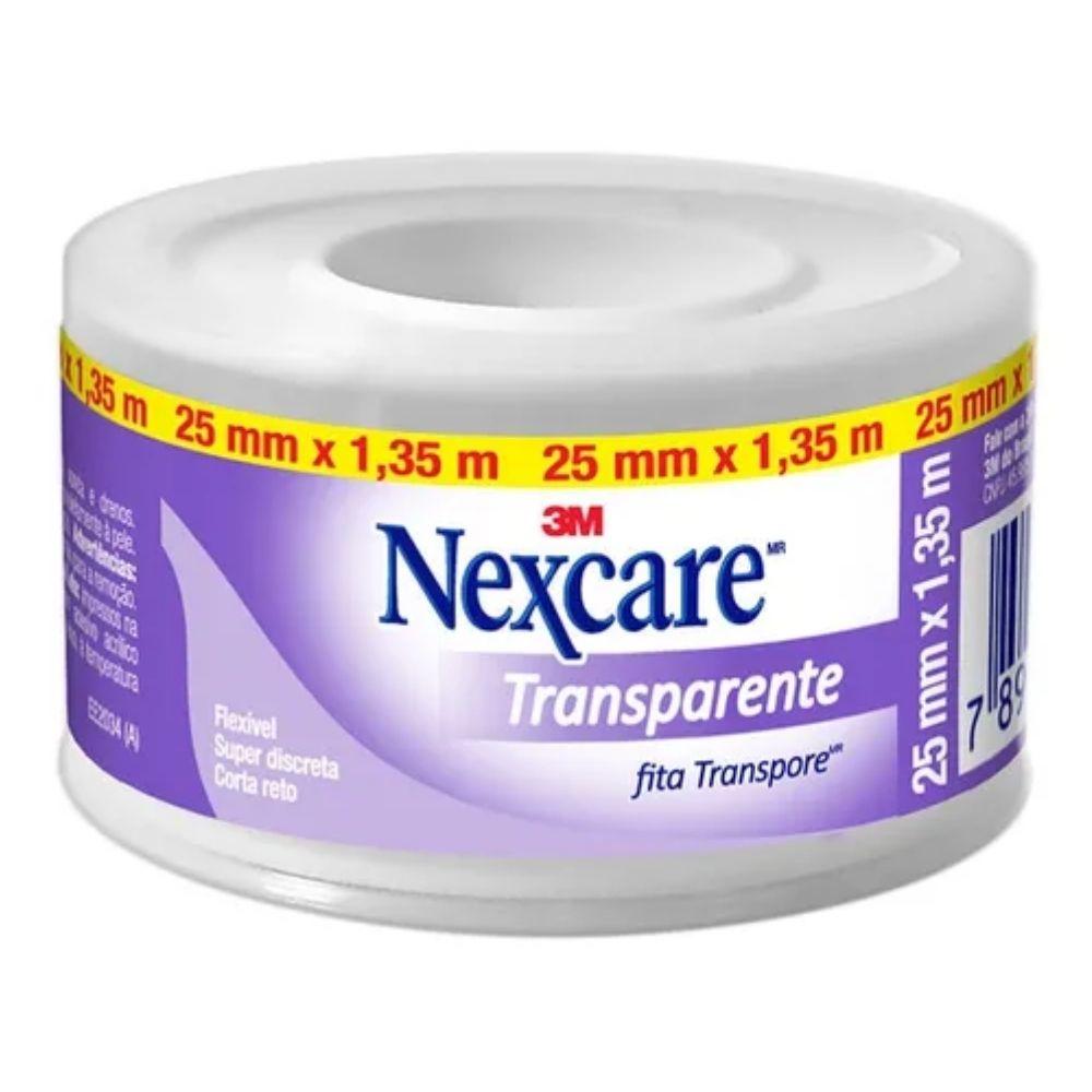 Fita Transpore Nexcare 3M Transparente 25mm x 1,35mm  - Casa do Roadie