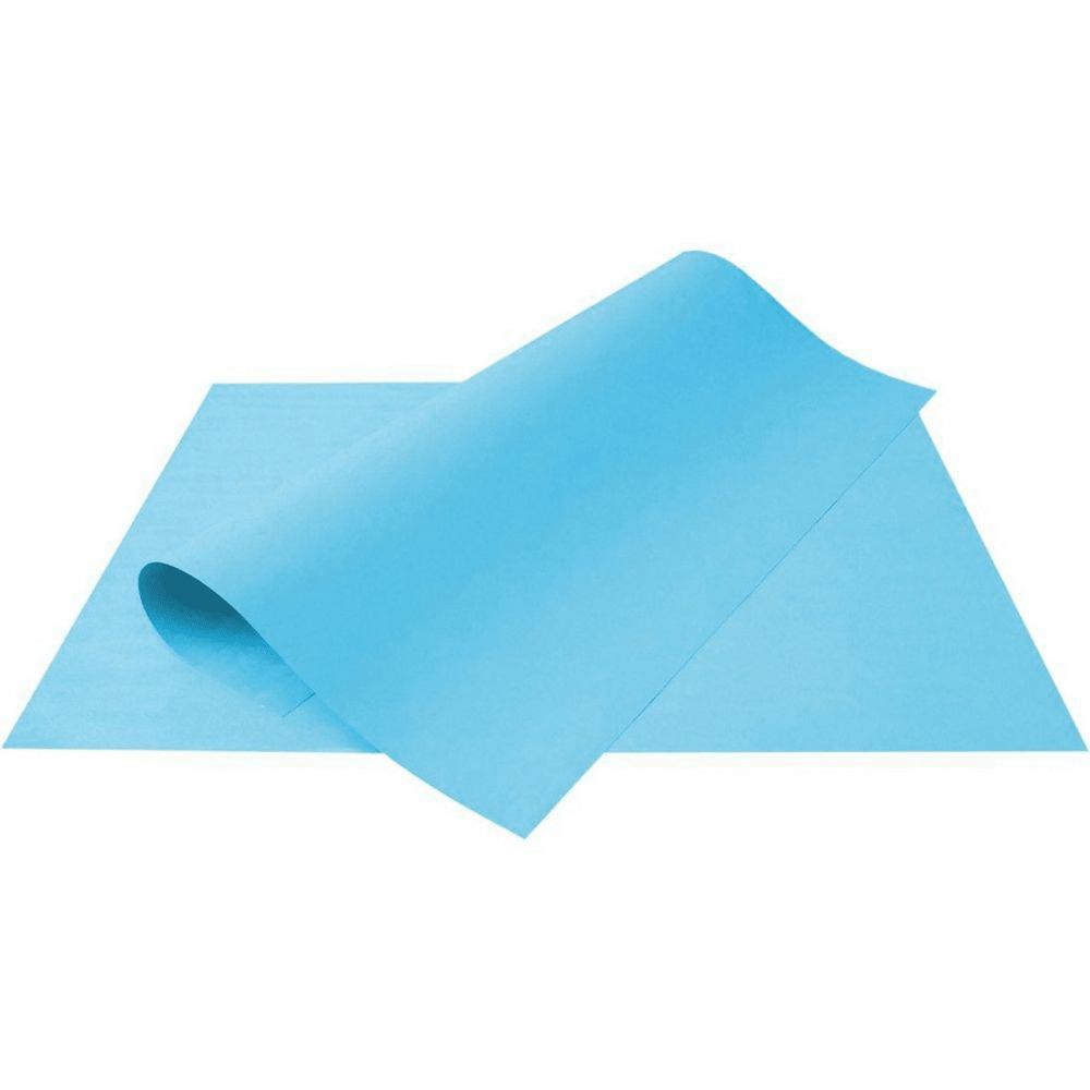 Folha de Cartolina Azul 50cm X 66cm  - Casa do Roadie