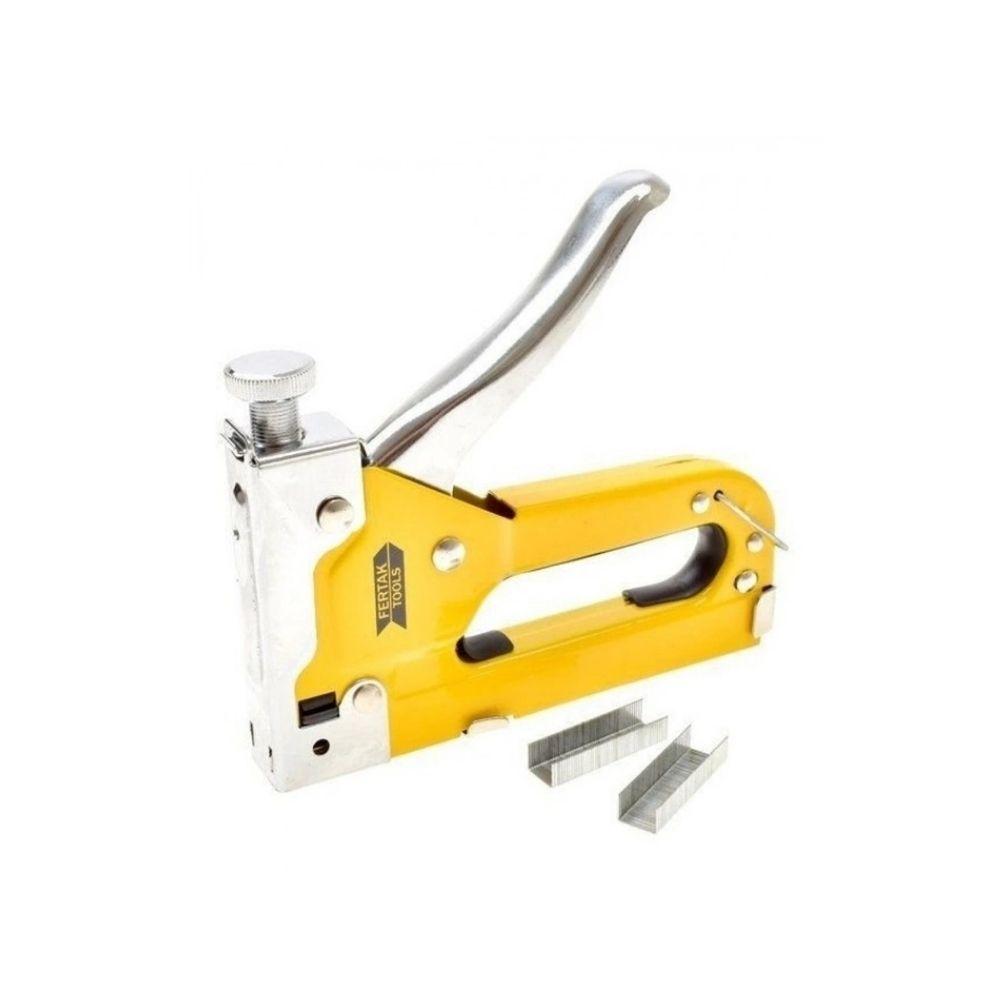 Grampeador de Tapeceiro Profissional Fertak Tools Cód 8501  - Casa do Roadie