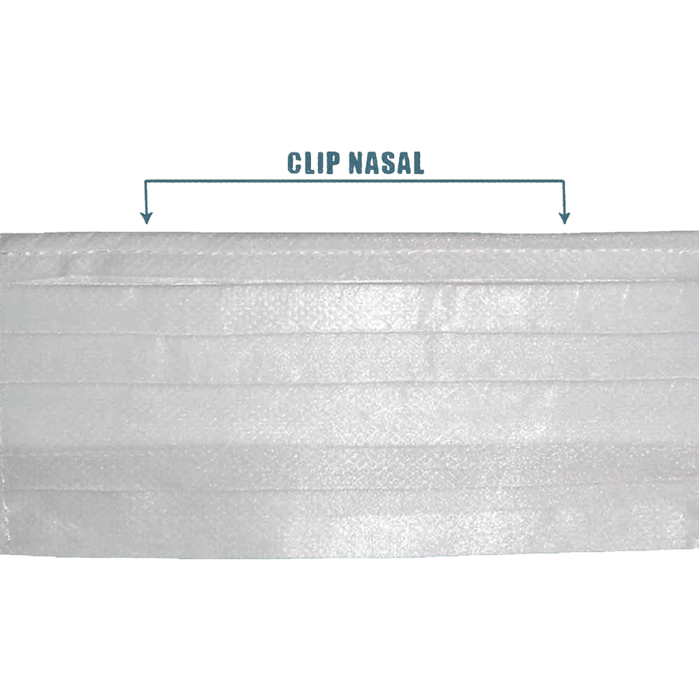 Kit 5 Máscara TNT Camada Tripla com Clip Nasal Branca + Alcool Gel Orbi 100g  - Casa do Roadie