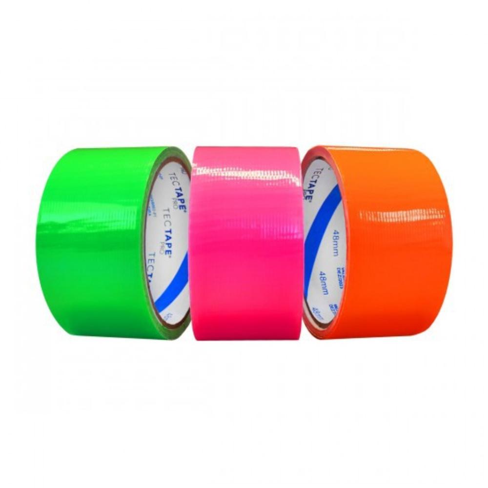 Kit Fita de PVC Silver Tape Multiuso Tectape 48mm X 10m - 3 Cores