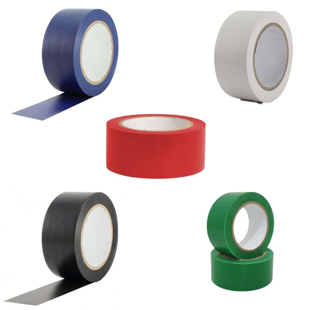 Kit Fitas de PVC para Demarcação de Solo Tectape 48mm X 30m - 5 Cores