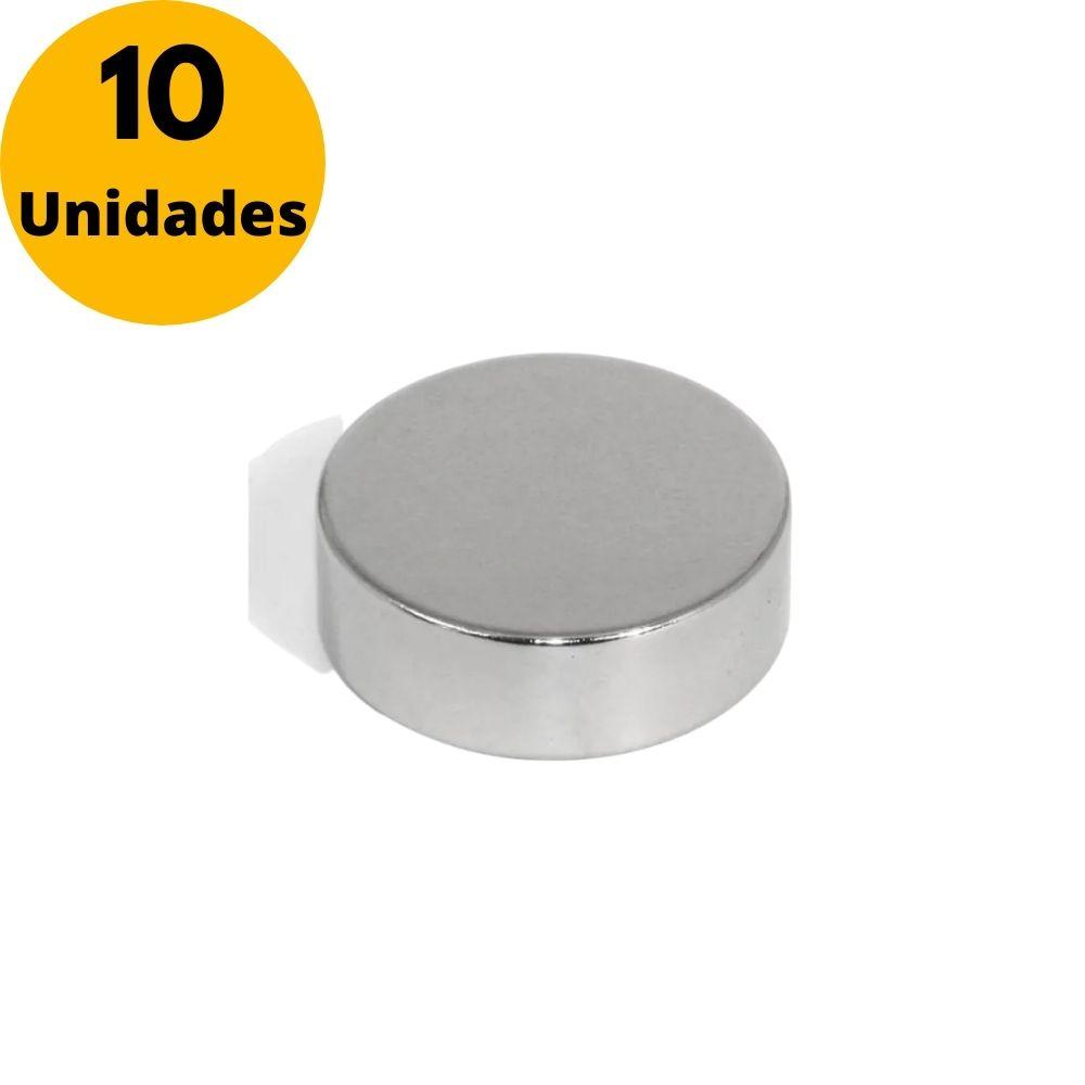 Kit Imã de Neodímio Pastilha 18mm X 4mm - 10 Unidades