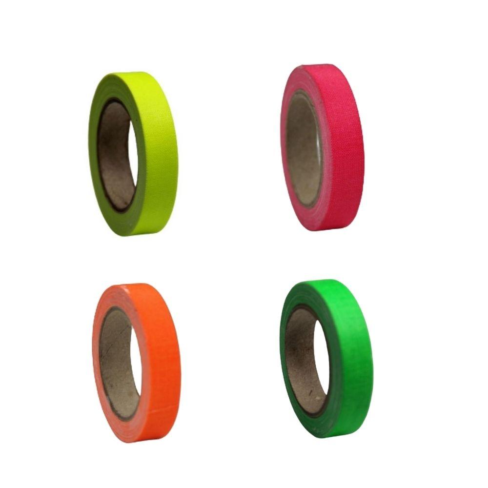 KIT Mini Fita de Tecido Gaffer Tape 12mm X 5m 4 cores