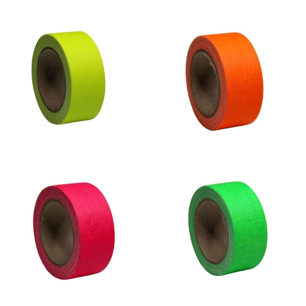 KIT Mini Fita de Tecido Gaffer Tape 24mm X 5m 4 Cores