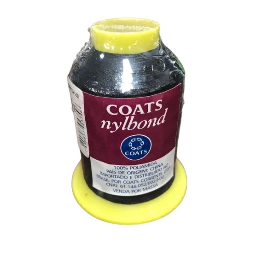 Linha de Nylon Coats Nylbond Preta 200g  - Casa do Roadie