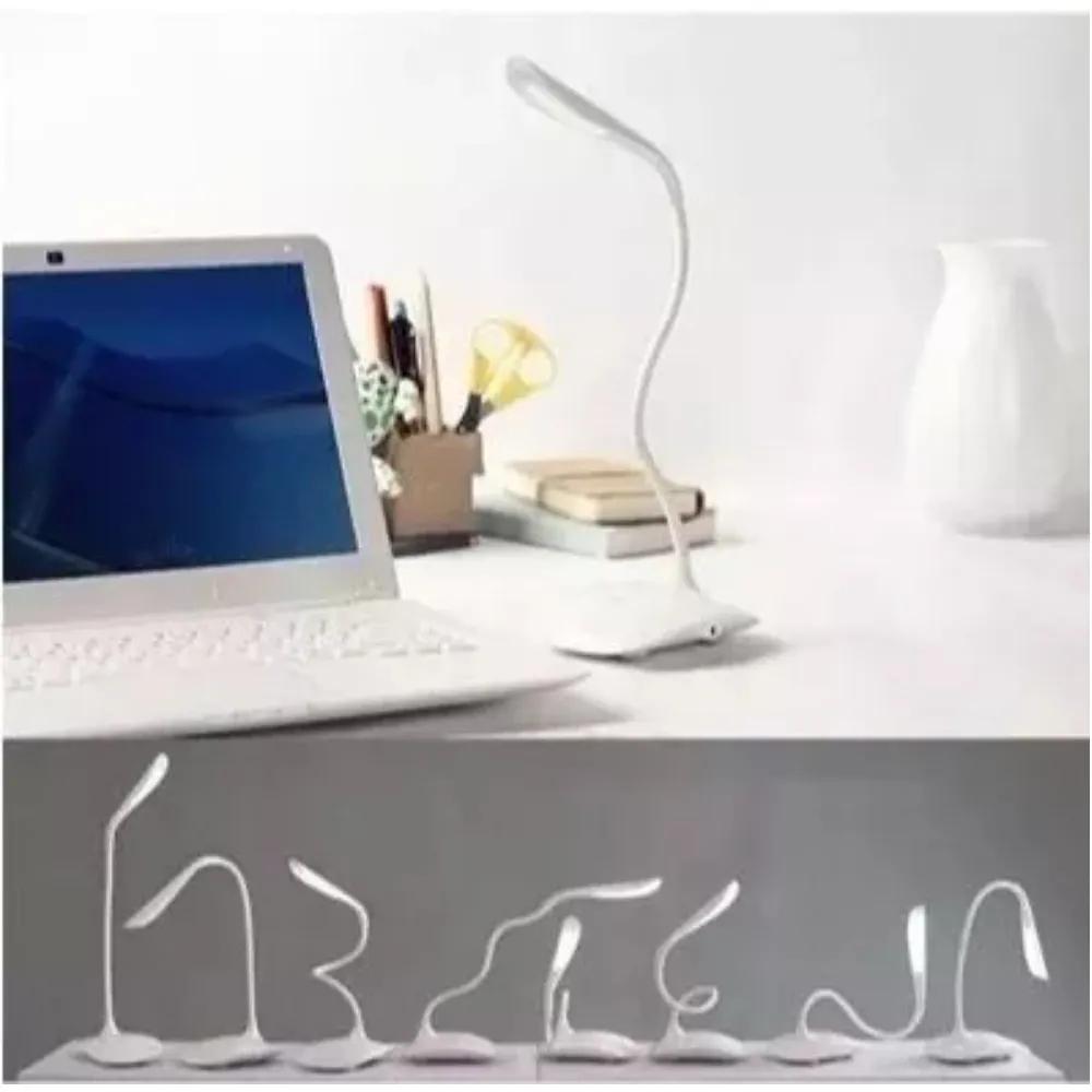Luminária LED de Mesa Flexível USB/Pilha Rosa  - Casa do Roadie