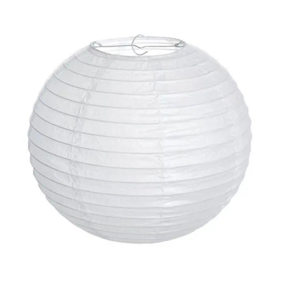 Luminária Oriental de Papel 35cm Branca