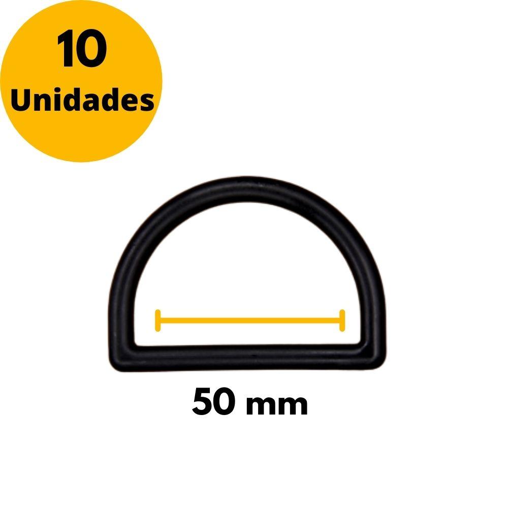 Meia argola de nylon 50mm - Kit com 10unidades