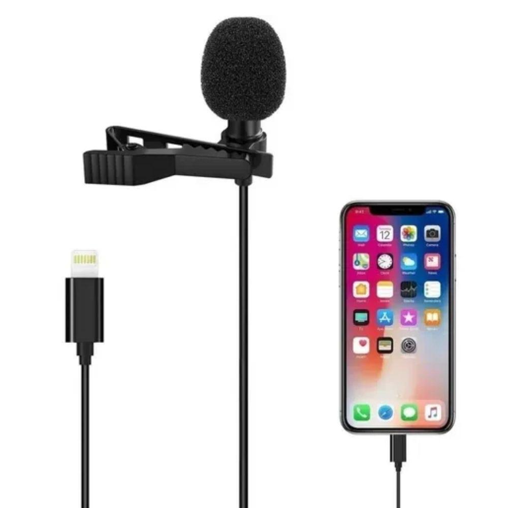 Microfone Lapela para Celular Lightning IOS Iphone  - Casa do Roadie