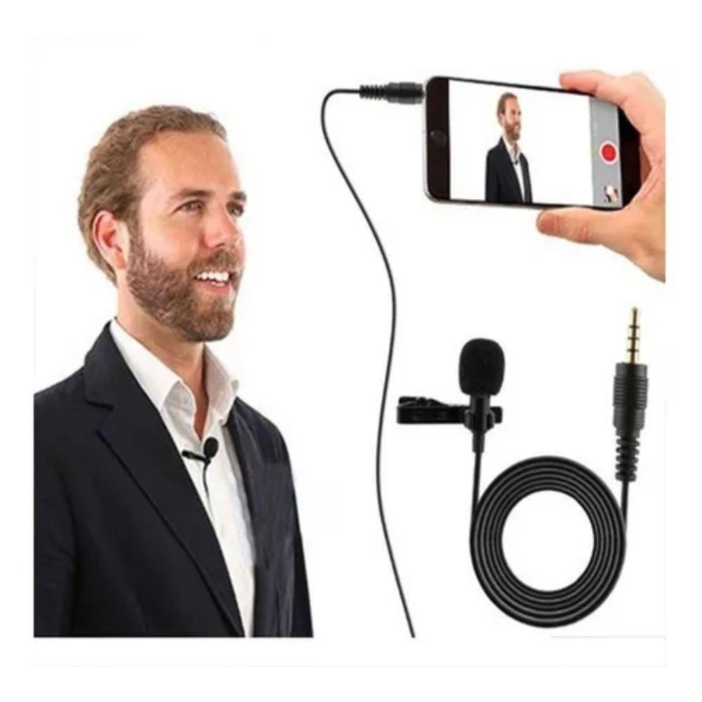 Microfone Lapela para Celular P2 cabo 1,5m  - Casa do Roadie