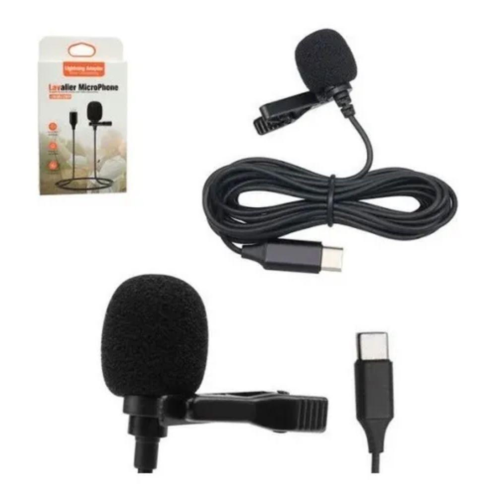 Microfone Lapela para Celular USB-C