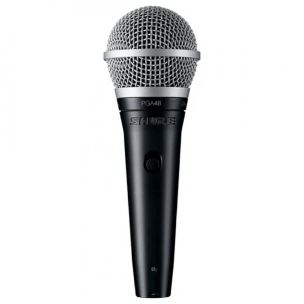 Microfone Vocal PGA48 LC Shure Preto  - Casa do Roadie