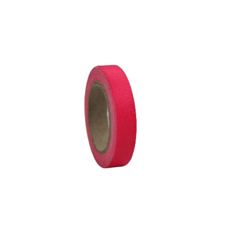 Mini Fita de Tecido Gaffer Tape 12mm X 5m Rosa Fluorescente
