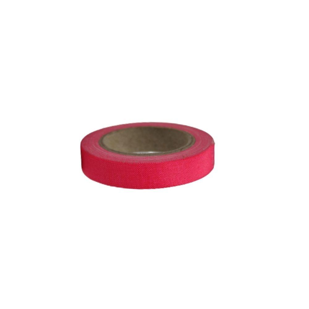 Mini Fita de Tecido Gaffer Tape 12mm X 5m Rosa Fluorescente  - Casa do Roadie