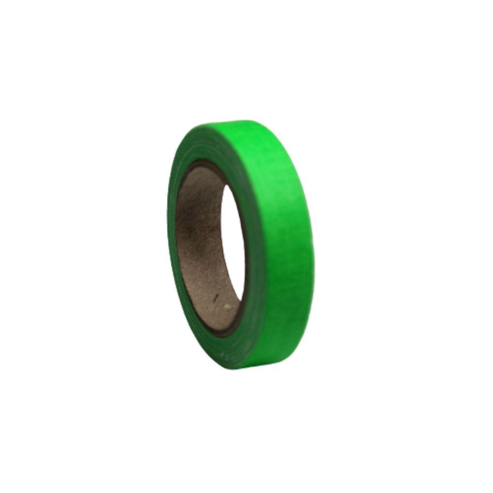 Mini Fita de Tecido Gaffer Tape 12mm X 5m Verde Fluorescente