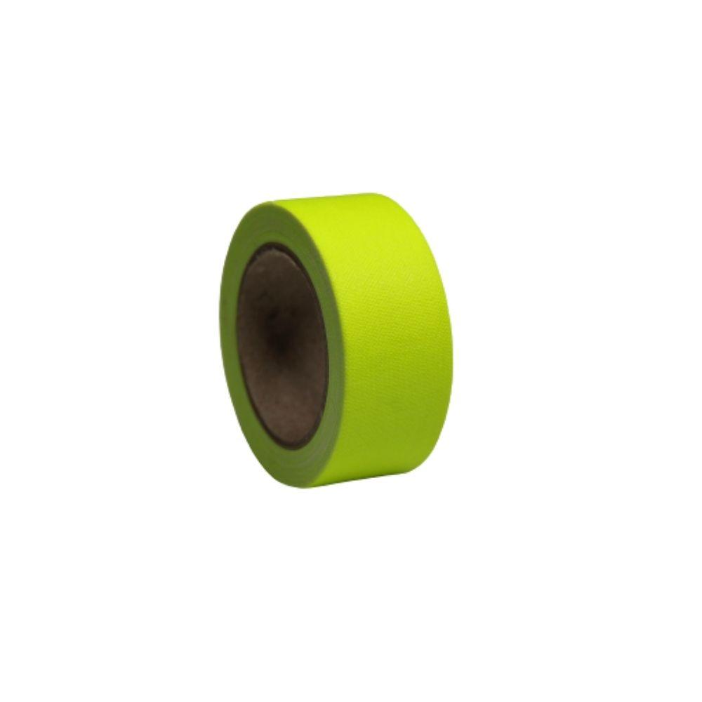 Mini Fita de Tecido Gaffer Tape 24mm X 5m Amarela Fluorescente