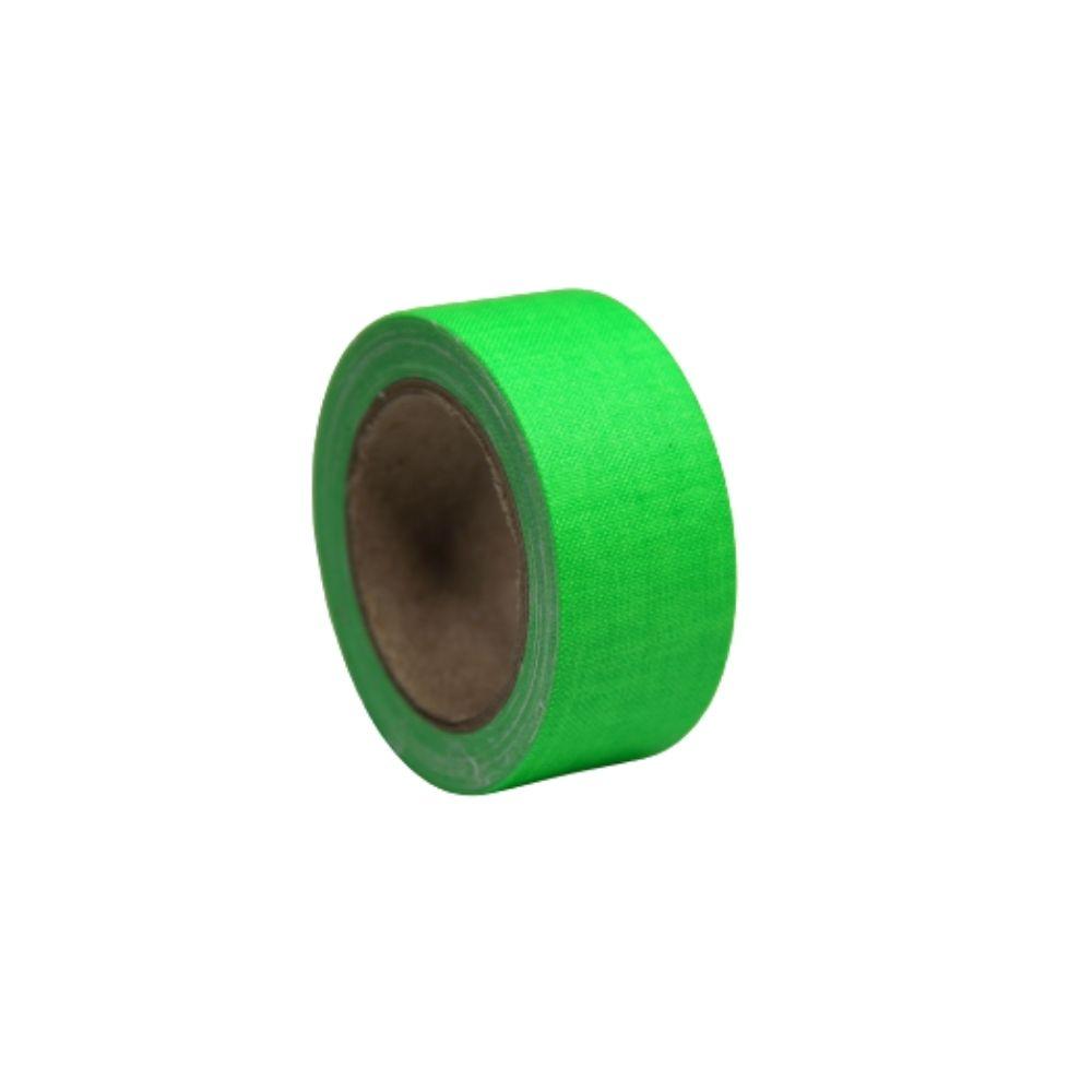 Mini Fita de Tecido Gaffer Tape 24mm X 5m Verde Fluorescente
