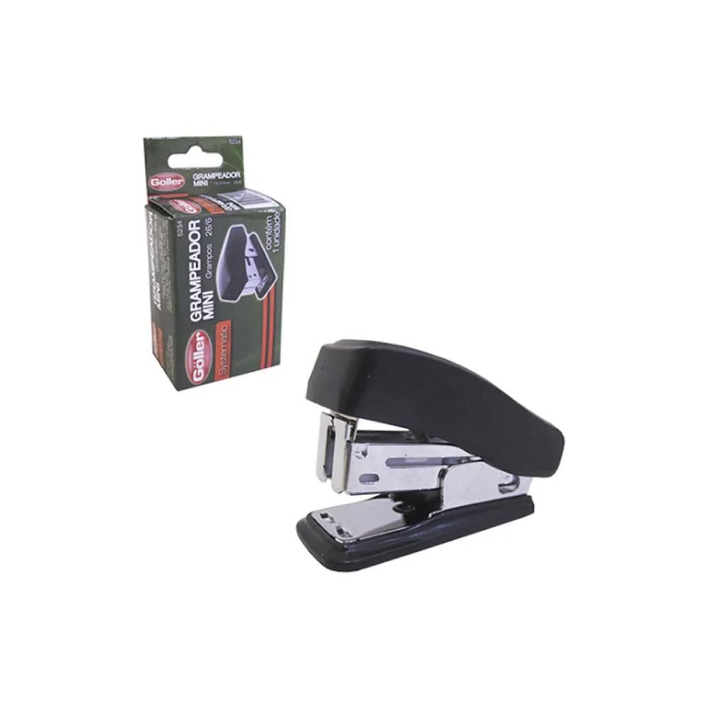 Mini Grampeador 26/6 Goller - até 8 Folhas  - Casa do Roadie
