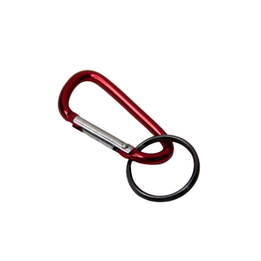 Mosquetão para Chaveiro 40mm Vermelho  - Casa do Roadie