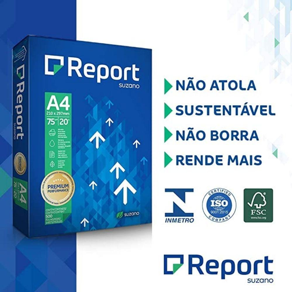 Papel sulfite A4 Report 500 folhas  - Casa do Roadie