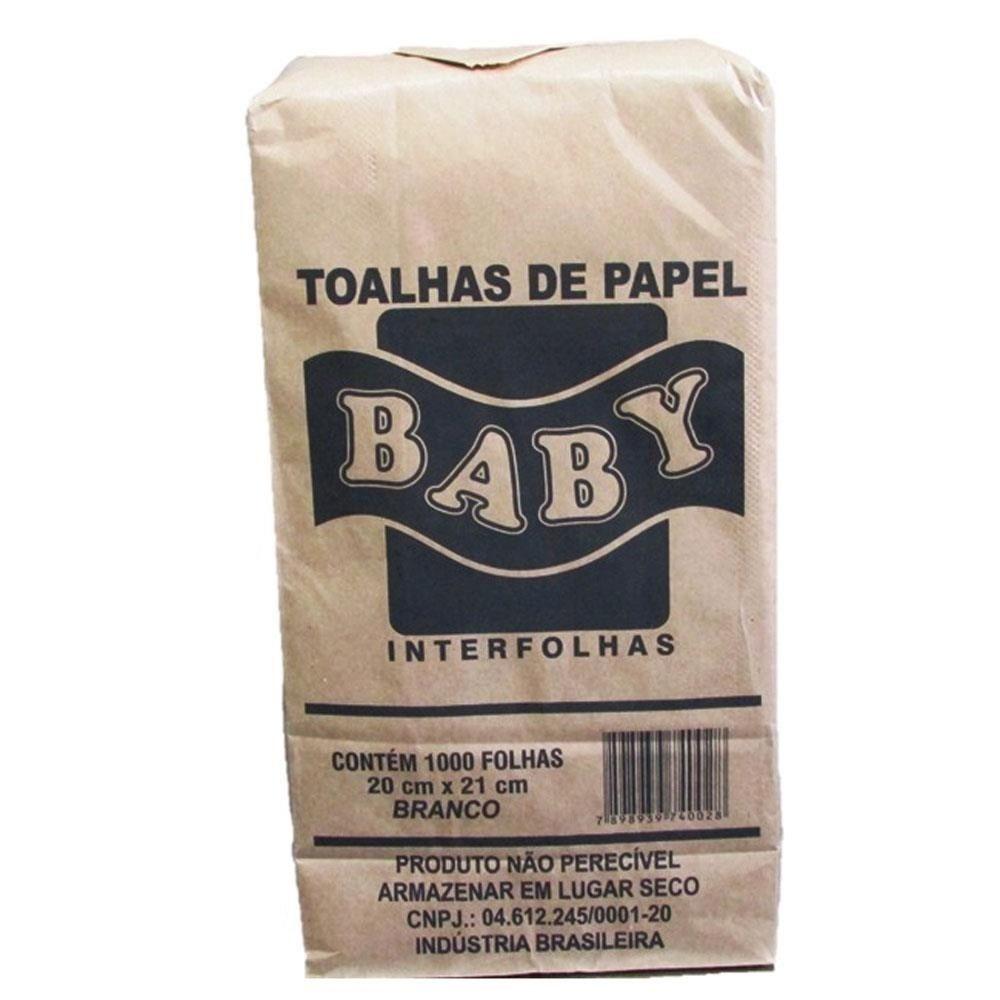 Papel Toalha Interfolha 2 dobras 20x21 1000unidades