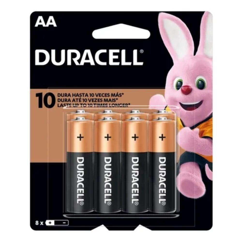 Pilha Alcalina AA Duracell - 8 unidades