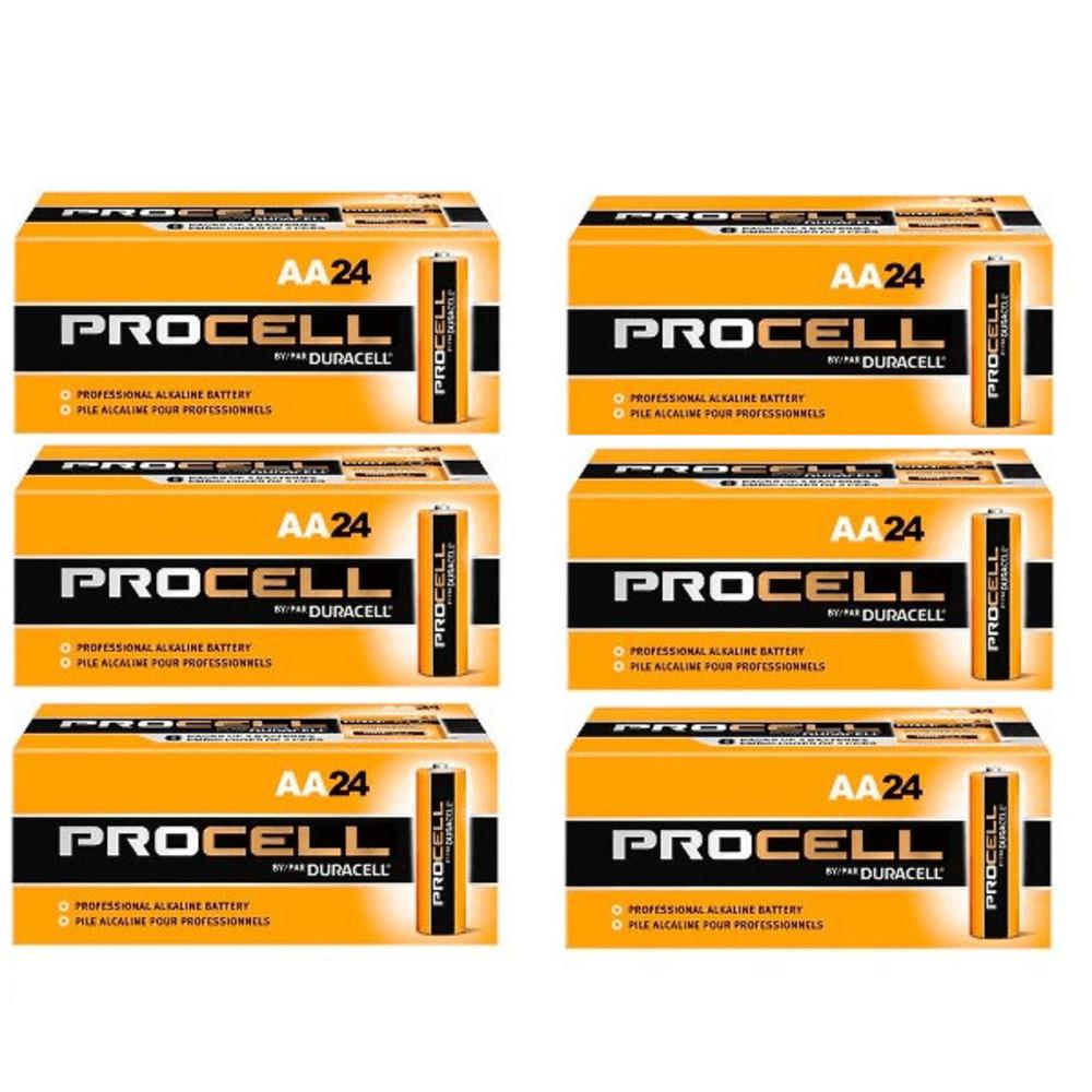 Pilha Alcalina Duracell Procell AA - Kit com 144