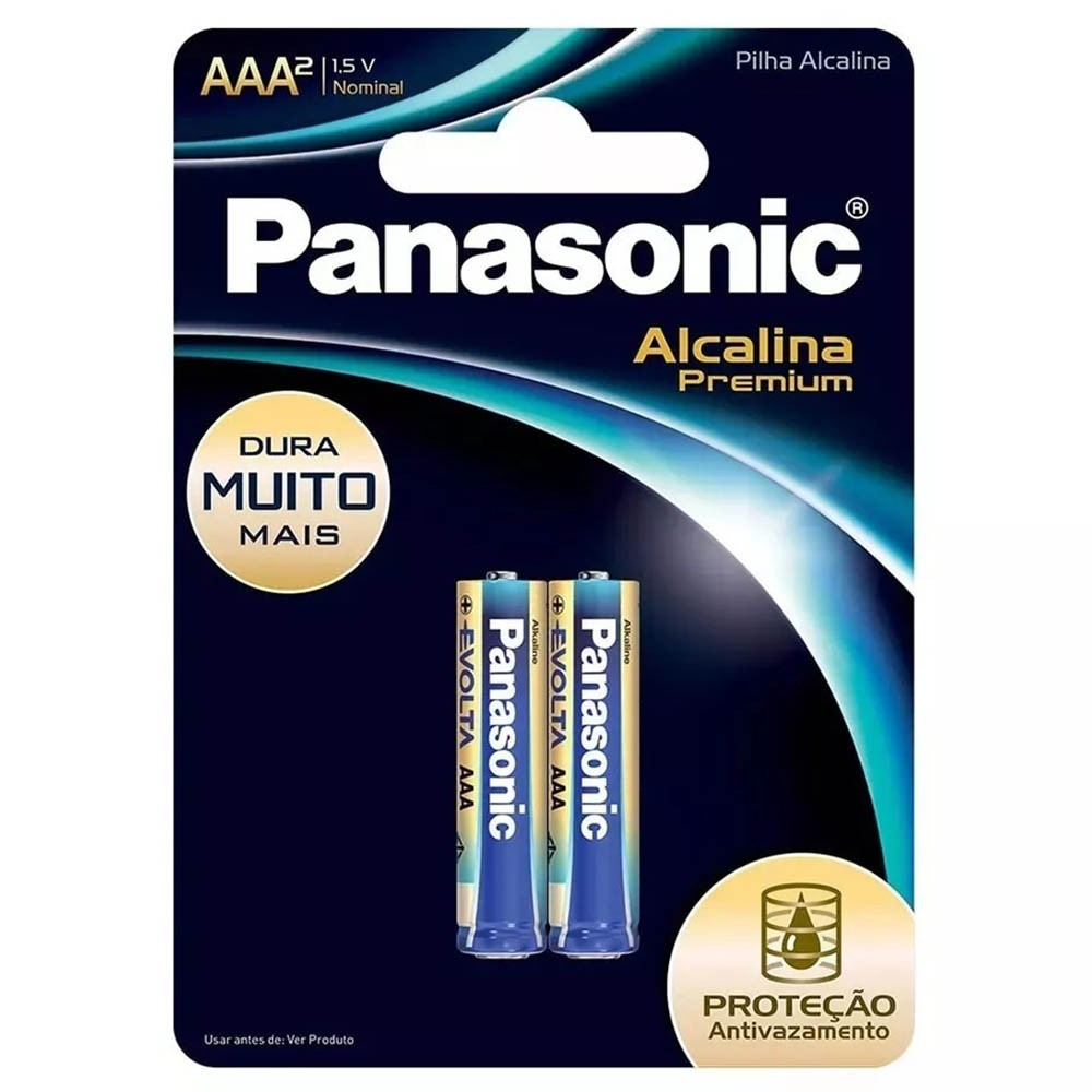 Pilha Premium Panasonic AAA - 2 unidades