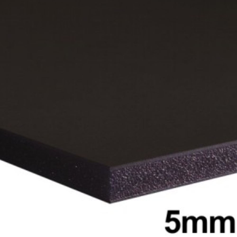Placa de Espuma Foam Board 80cm X 1m Preta  - Casa do Roadie