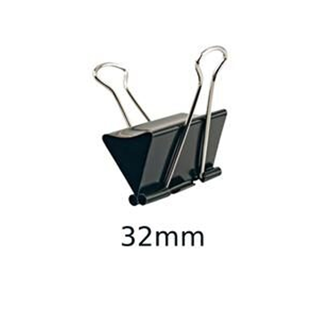 Prendedor de Papel 32mm - 12 unidades  - Casa do Roadie